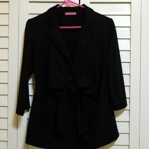 Large Black stretchy maternity blazer